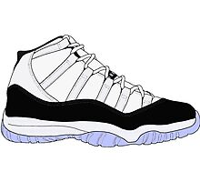 "Air Jordan XI (11) ""Concord"" Photographic Print"
