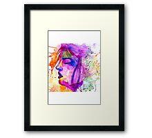 Psychedelic Face Framed Print