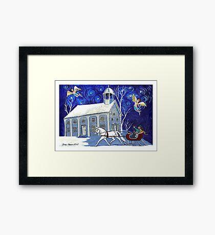 Lancaster Sleigh Ride Framed Print