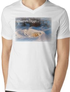 Peace & Goodwill from Yoga Bear Mens V-Neck T-Shirt