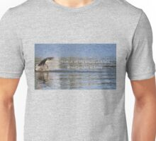 Great Blue Heron on Lost Lagoon Lake (with quote) Unisex T-Shirt