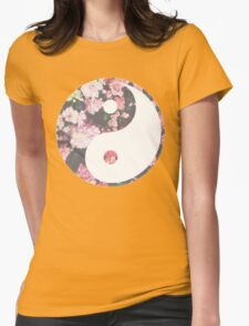 Hipster Yin Yang Womens Fitted T-Shirt