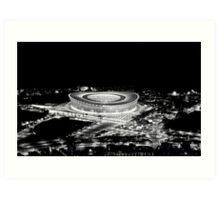 Stadium Alight Art Print