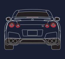Nissan GTR R35 White Kids Tee