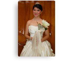 bridal gown design 12 Canvas Print