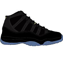 "Air Jordan XI (11) ""Gamma Blue"" Photographic Print"