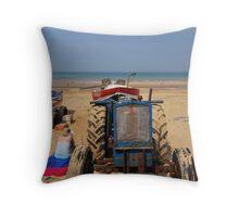 Beach Days, Cromer Beach Throw Pillow
