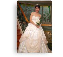 bridal gown design 13 Canvas Print