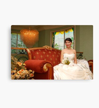bridal gown design 14 Canvas Print