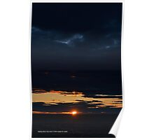 Dark Sunset | Wading River, New York  Poster