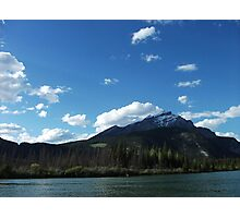 Canoeing on the Bow River Photographic Print