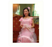 bride's maid gown design 19 Art Print
