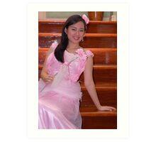bride's maid gown design 22 Art Print