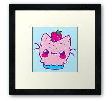 Kawaii Cupcake Kitty Framed Print