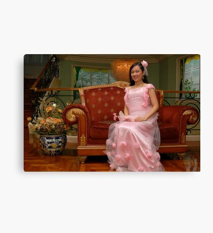 bride's maid gown design 23 Canvas Print