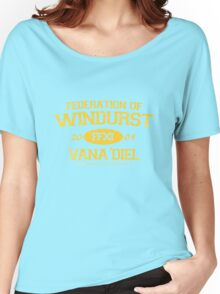 Final Fantasy XI: Windurst (Gold Lettering) Women's Relaxed Fit T-Shirt