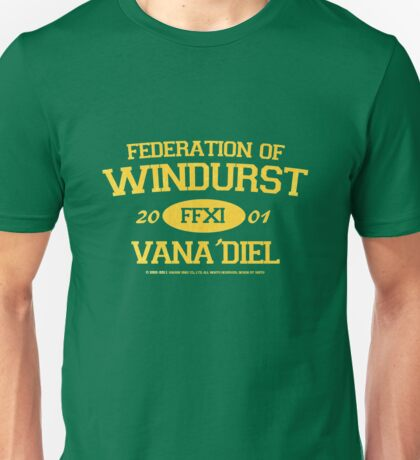 Final Fantasy XI: Windurst (Gold Lettering) Unisex T-Shirt