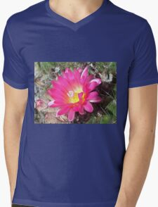 Lovely but Lonely cactus flower Mens V-Neck T-Shirt