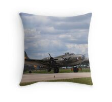 Memphis Belle - B-17F Throw Pillow