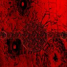 Red on black-  Abstract by haya1812
