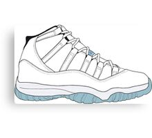 "Air Jordan XI (11) ""Legend Blue"" Canvas Print"