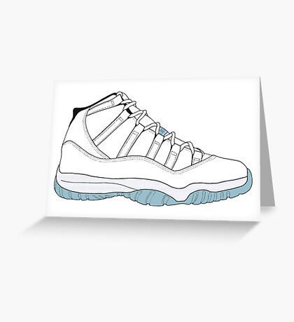 "Air Jordan XI (11) ""Legend Blue"" Greeting Card"