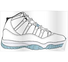 "Air Jordan XI (11) ""Legend Blue"" Poster"