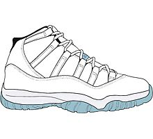 "Air Jordan XI (11) ""Legend Blue"" Photographic Print"