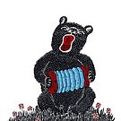 Music in the Heart, Bear with Blue Accordion by SusanSanford