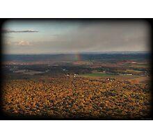 Rainbow Snow Squall Photographic Print