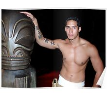 Tattooed Man, Tahiti Poster