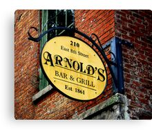 A Bar and Grill in Cincinnati Canvas Print