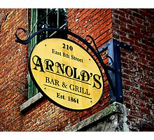 A Bar and Grill in Cincinnati Photographic Print