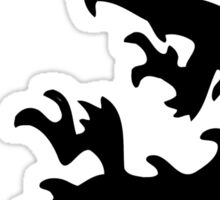 Silhouette of Oriental dragon Sticker