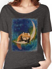 Red Panda Moon Women's Relaxed Fit T-Shirt