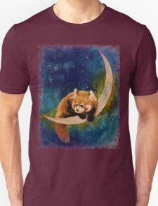 Red Panda Moon Unisex T-Shirt
