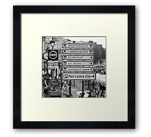 La vie à Paris Framed Print