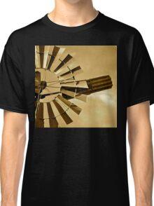 Windmill in Sepia Classic T-Shirt