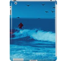 Fun, surfing at Half Moon Bay iPad Case/Skin