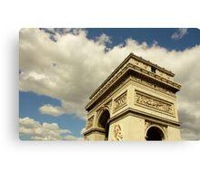 Arc de Triomphe à la lumière naturelle Canvas Print