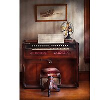 Musician - Organist - My Grandmothers organ Photographic Print