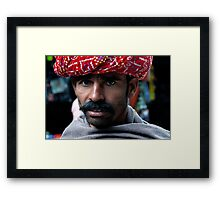The Villager from Rajasthan Framed Print