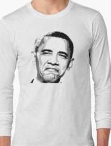 Awesome Barack Obama - Stencil - Street art Graffiti Popart Andy warhol by Jonny2may Long Sleeve T-Shirt