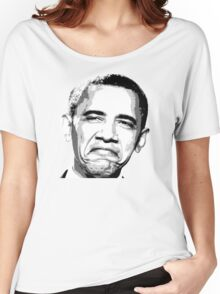 Awesome Barack Obama - Stencil - Street art Graffiti Popart Andy warhol by Jonny2may Women's Relaxed Fit T-Shirt