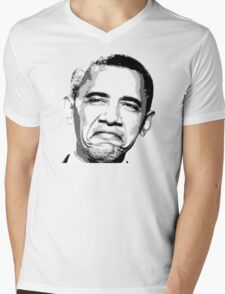 Awesome Barack Obama - Stencil - Street art Graffiti Popart Andy warhol by Jonny2may Mens V-Neck T-Shirt