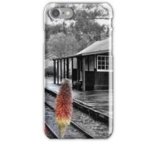 Lakeside Station in the Rain iPhone Case/Skin