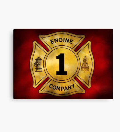 Fireman - Engine Company 1 Canvas Print