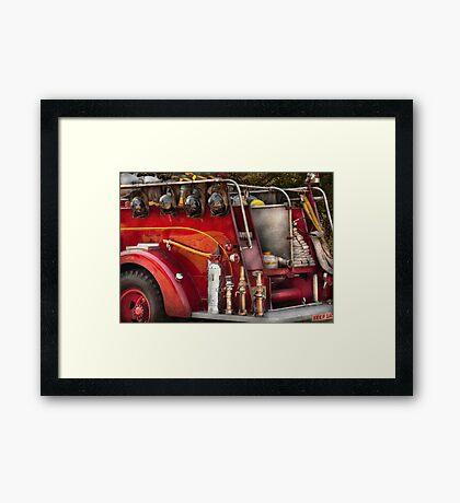 Fireman - Ready for a fire Framed Print