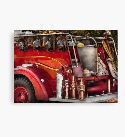 Fireman - Ready for a fire Canvas Print