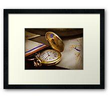 Clock Maker - Time never waits  Framed Print